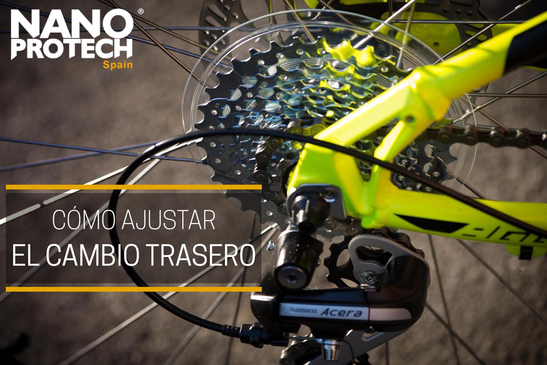 Cómo ajustar el cambio trasero de la bici